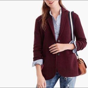 NWT J. Crew Eloise Burgundy Sweater Blazer